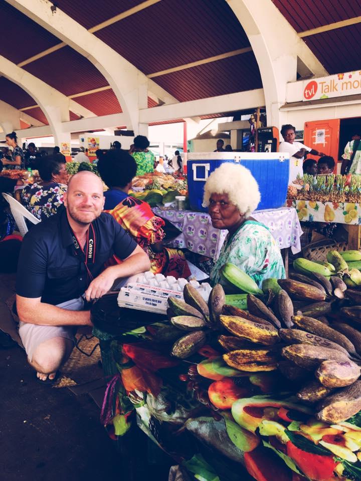 Vanuatu local market.