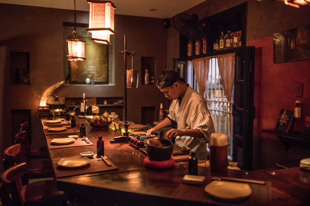 Tadioto, a new whisky bar in the French Quarter tucked between a clothing boutique out front and a sushi ramen bar in the back owned by renowned author Nguyen Qui Duc. Photo by Justin Mott for The New York Times