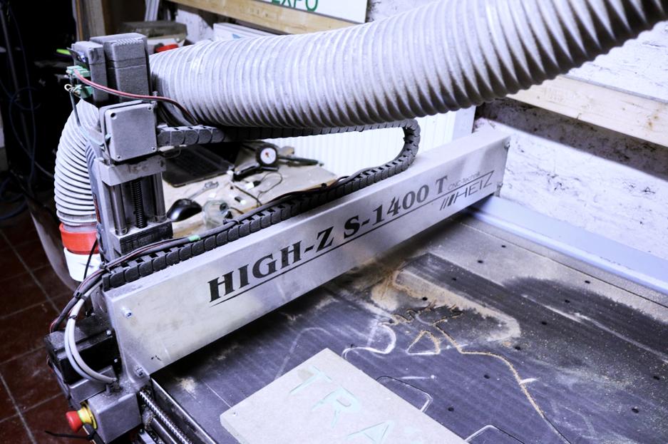 CNC milling machine at TRAKK Namur.