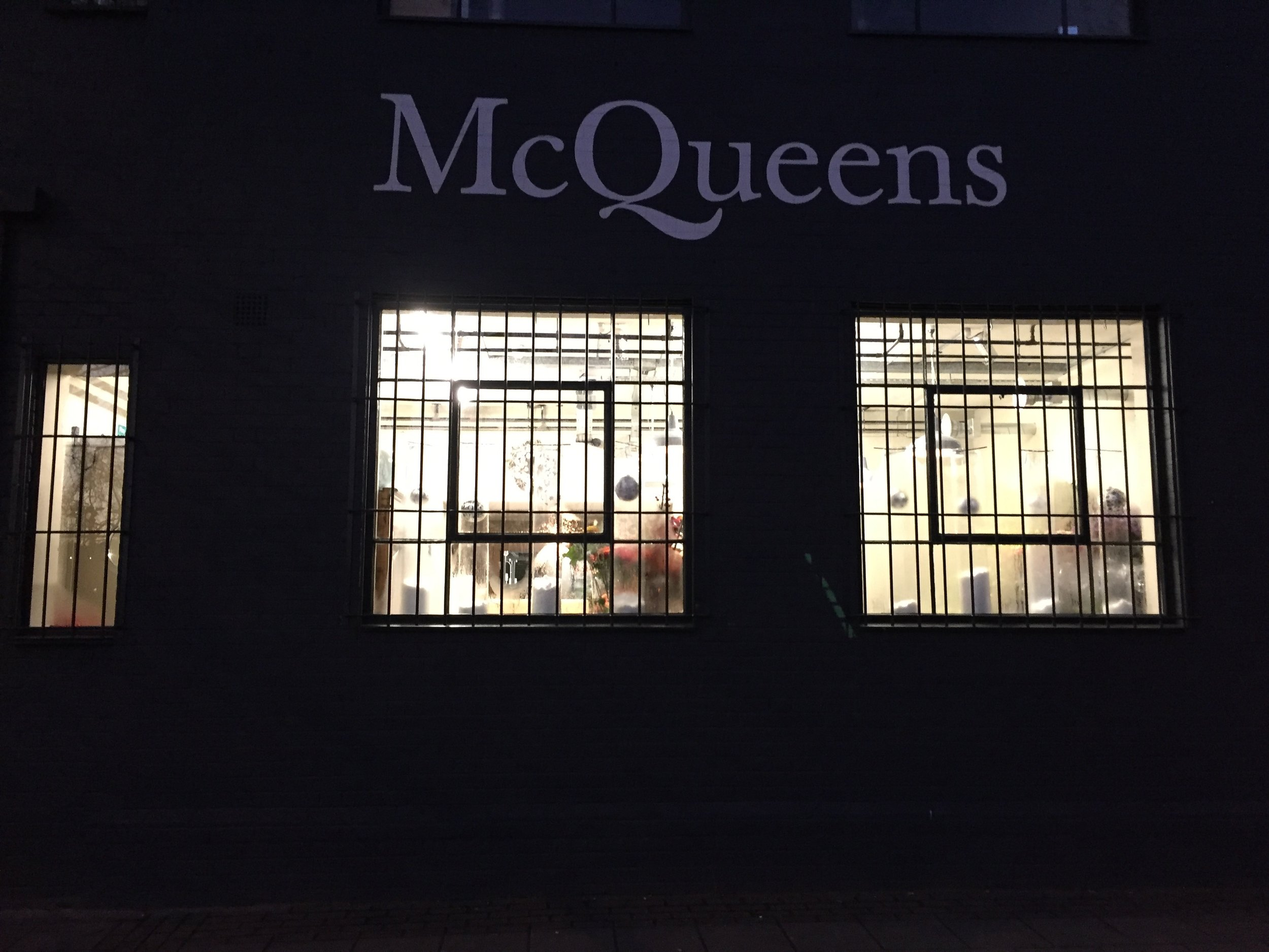 Outside McQueens at 6am for delivery, anybody in?