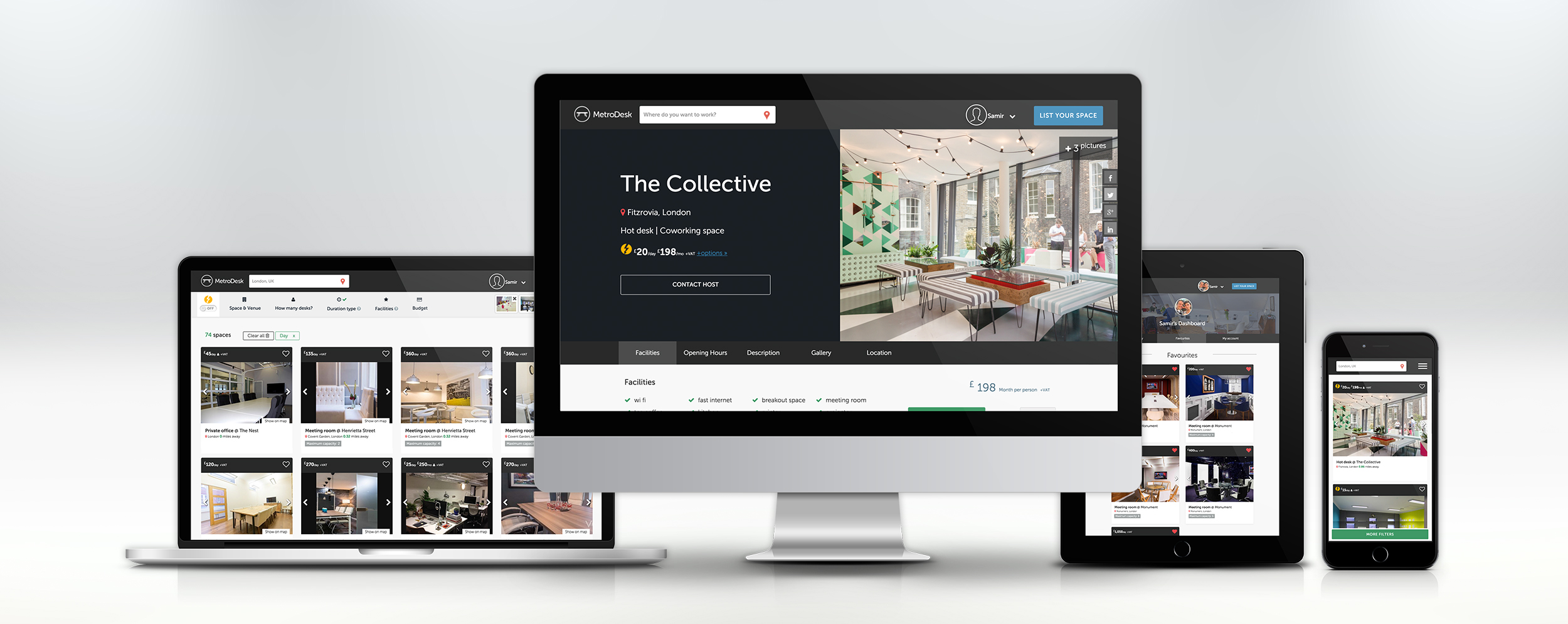 A responsive showcase of the live site.