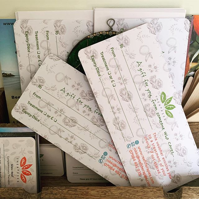 """A gift for you, from someone who cares"". New gift cards are in, with the option to choose an amount or a treatment to purchase for a loved one. A great treat 😍 All printed on recycled card! ♻️ 🎁 #recycle #giftideas #giftcards #worthing  #worthingbusiness  #holisitic #therapist #reflexology #massage #relaxation  #therapyforthesoul #massage #aroma #aromatherapy  #vegan #crueltyfree #essentialoils"