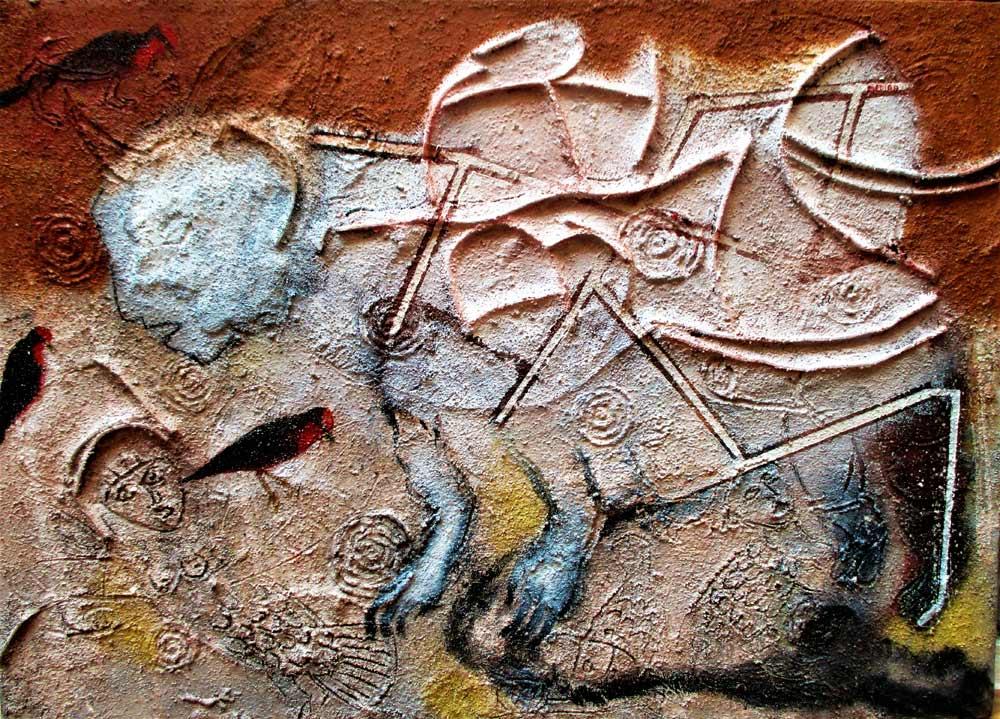 La-Transformación-del-Espíritu---Mixta-sobre-tela 50x70-cm