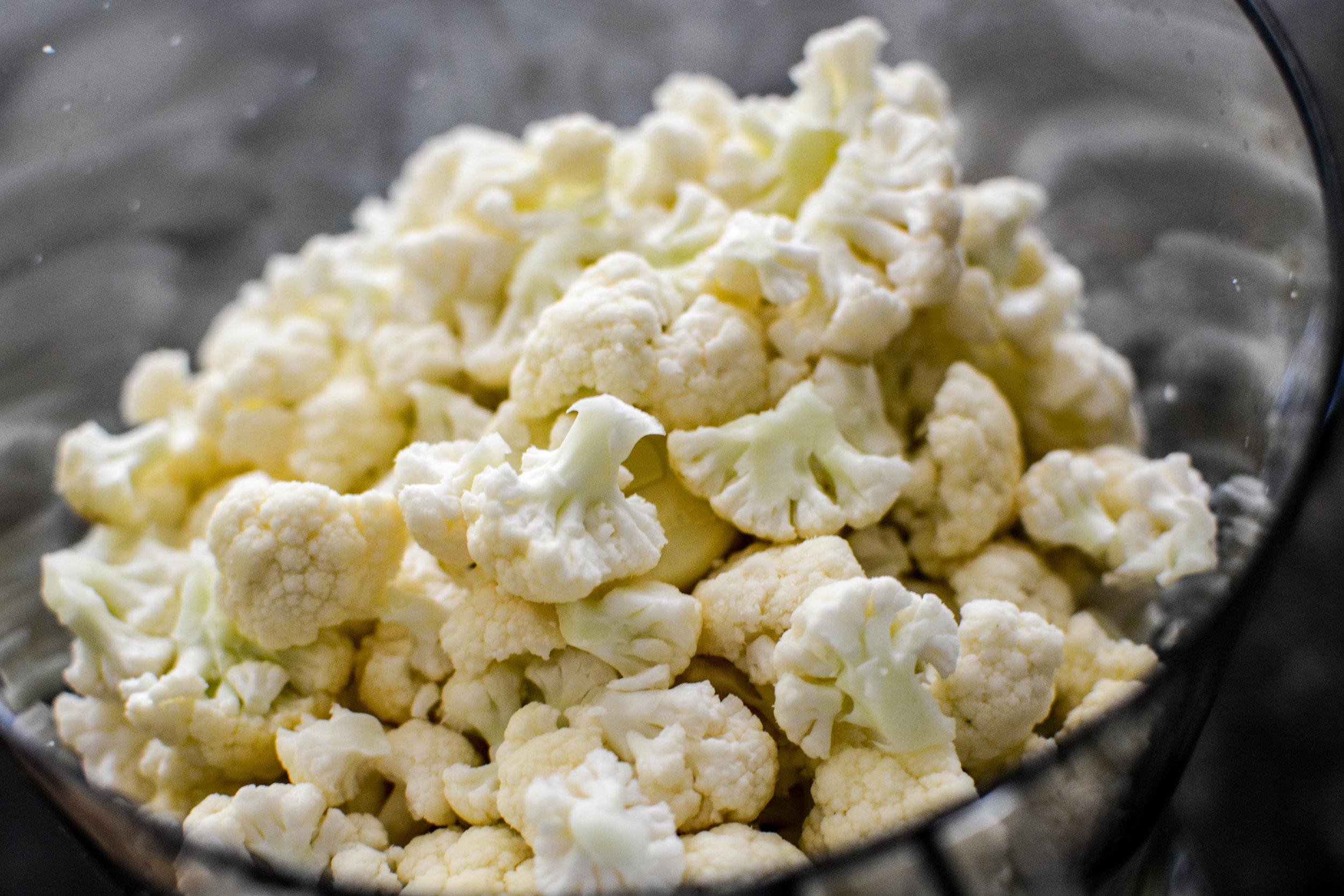 ready to process cauliflower rice