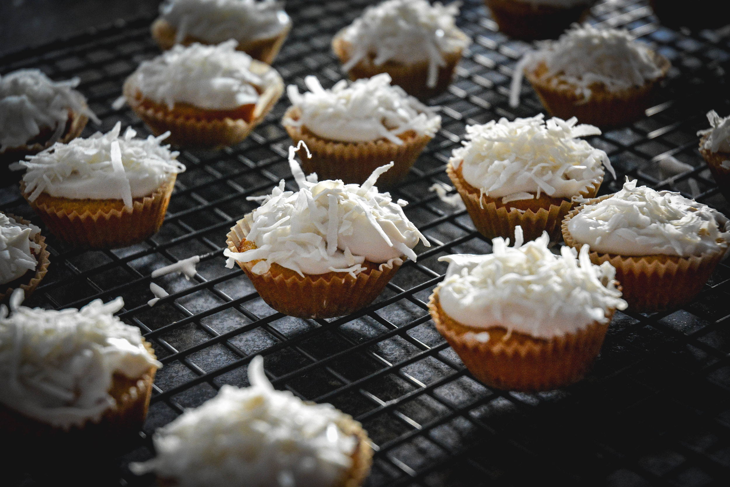 paleo coconut cupcakes cooling rack
