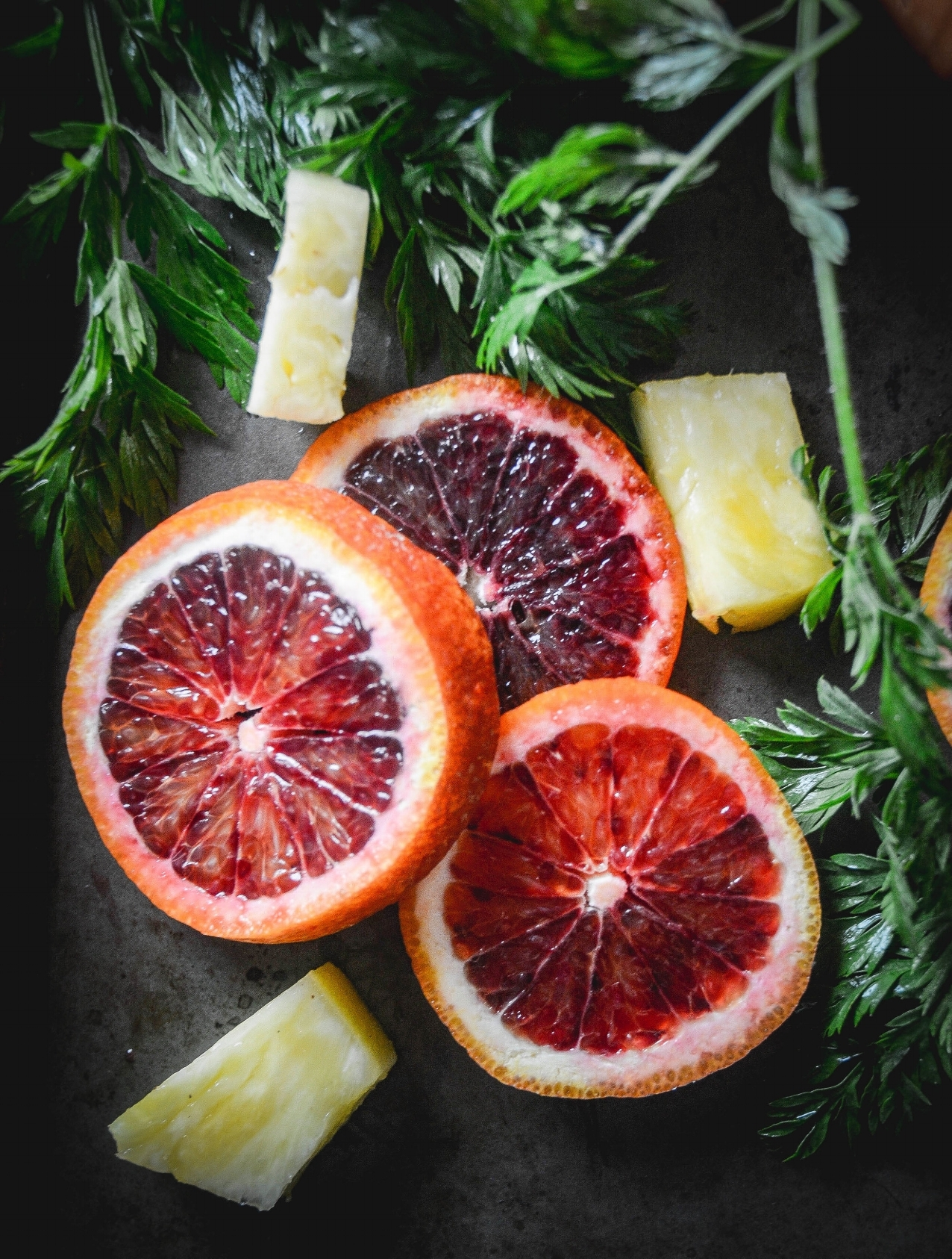 A simple blood orange smoothie fIlled with vitamins and minerals. An invigorating drink anytime of the day