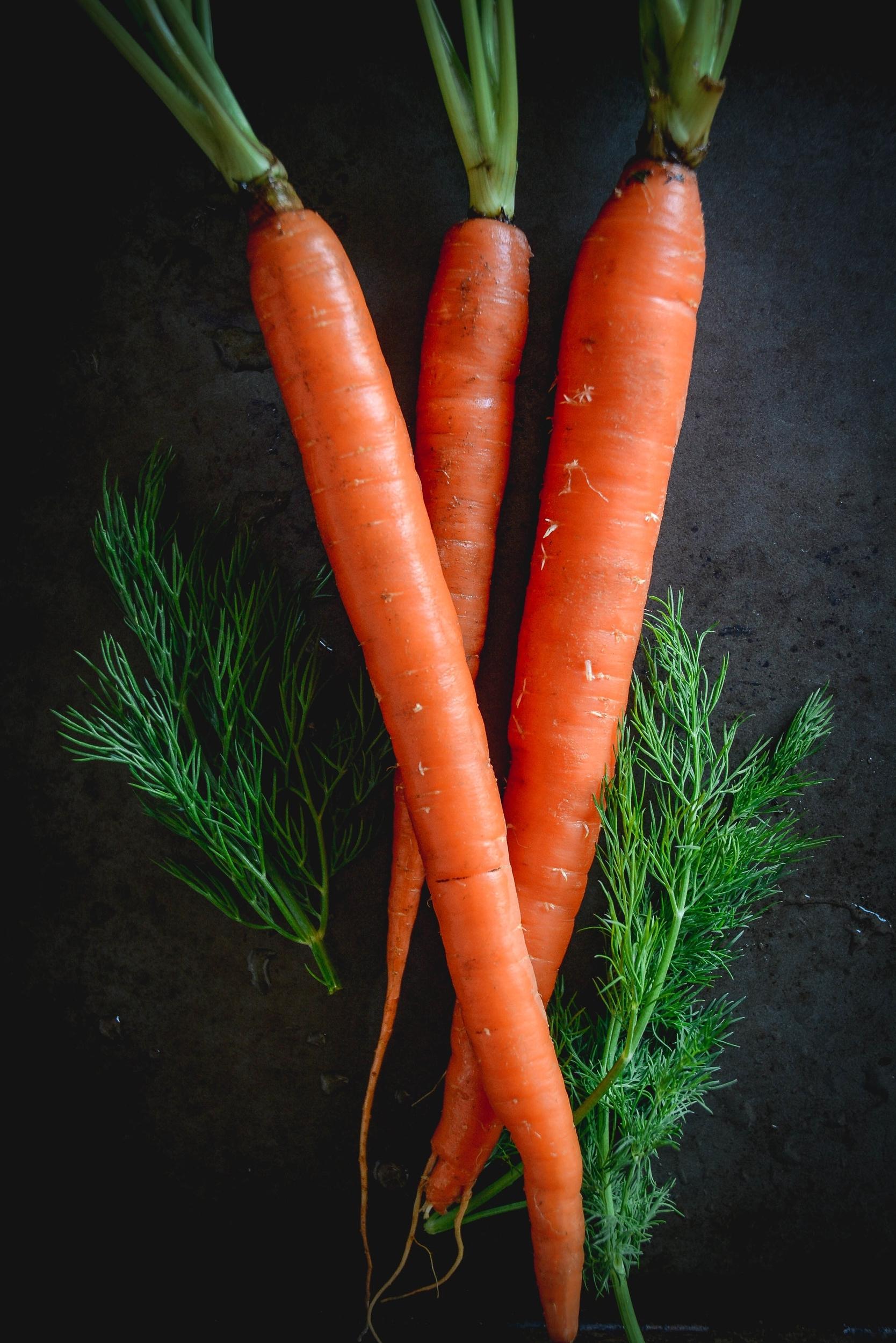 carrots on tray