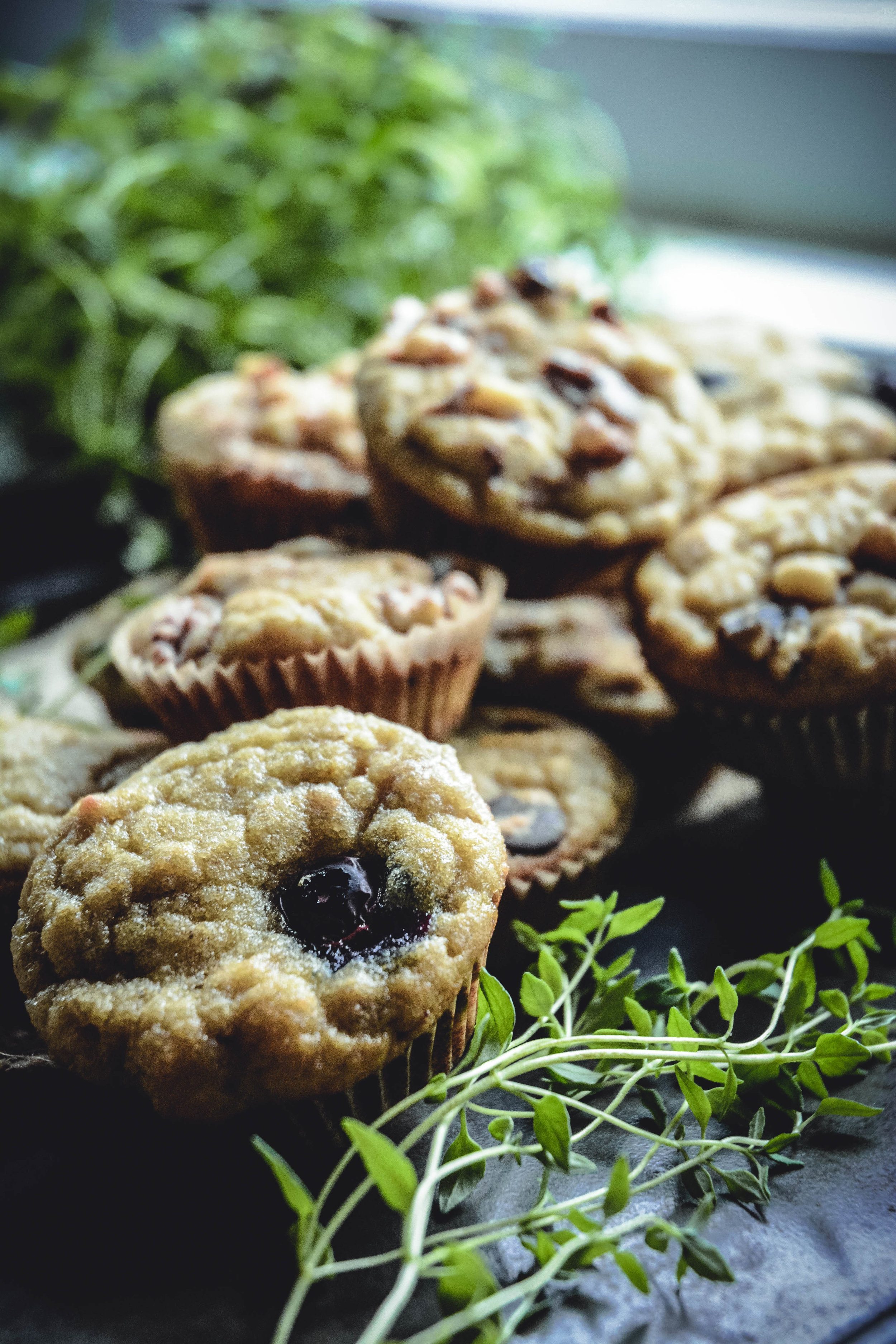 paleo collagen mini muffins with greens