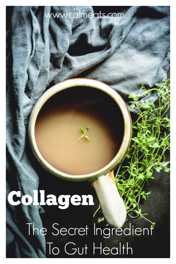 One of the simplest things you can do to improve your digestion, joint health and skin is to consume collagen on a regular basis, whether it comes in the form of bone broth or collagen peptides, it has transformative benefits. #calmeats, #collagen, #guthealth, #digestion, #paleo, #health, #wellness, #bonebroth, #guthealing