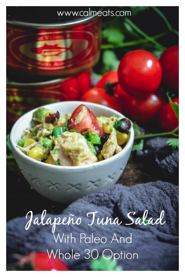 When it comes to making salads, sourcing the best possible ingredients is key, this is why I chose this tasty organic Jalapeño Tuna from St. Jude Tuna for this refreshing, vibrant tuna salad. If you're following a paleo or whole 30 lifestyle, feel free to skip the beans and corn and have this be just as tasty! It's gluten and dairy free as well. #ad #glutenfree #stjudetuna @joemalley #cameats #jalapenotuna #tuna #glutenfree #dairyfree #salad #paleo #whole30 #seafood #cannedtuna