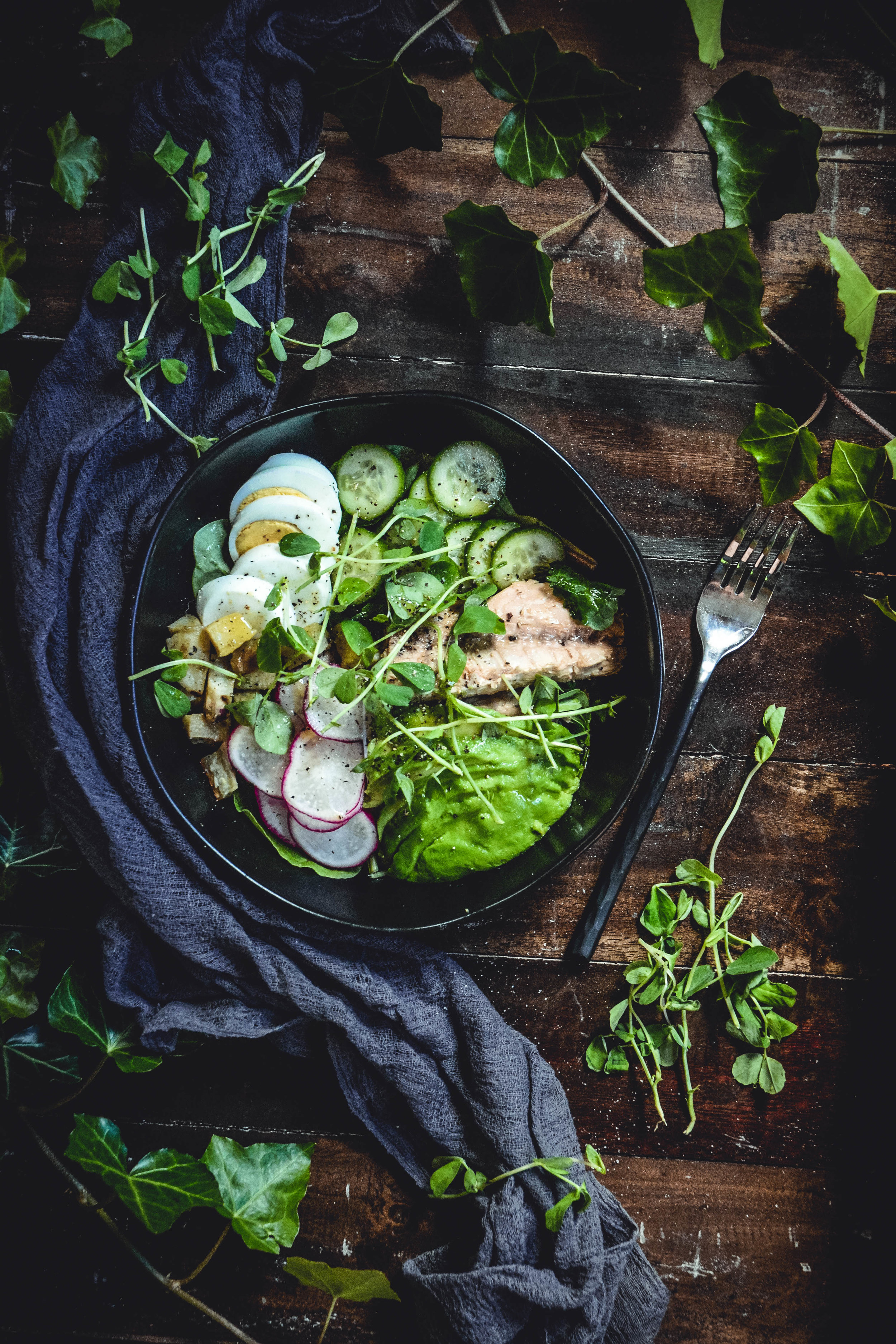 Brussels sprouts salad , almonds and cherries