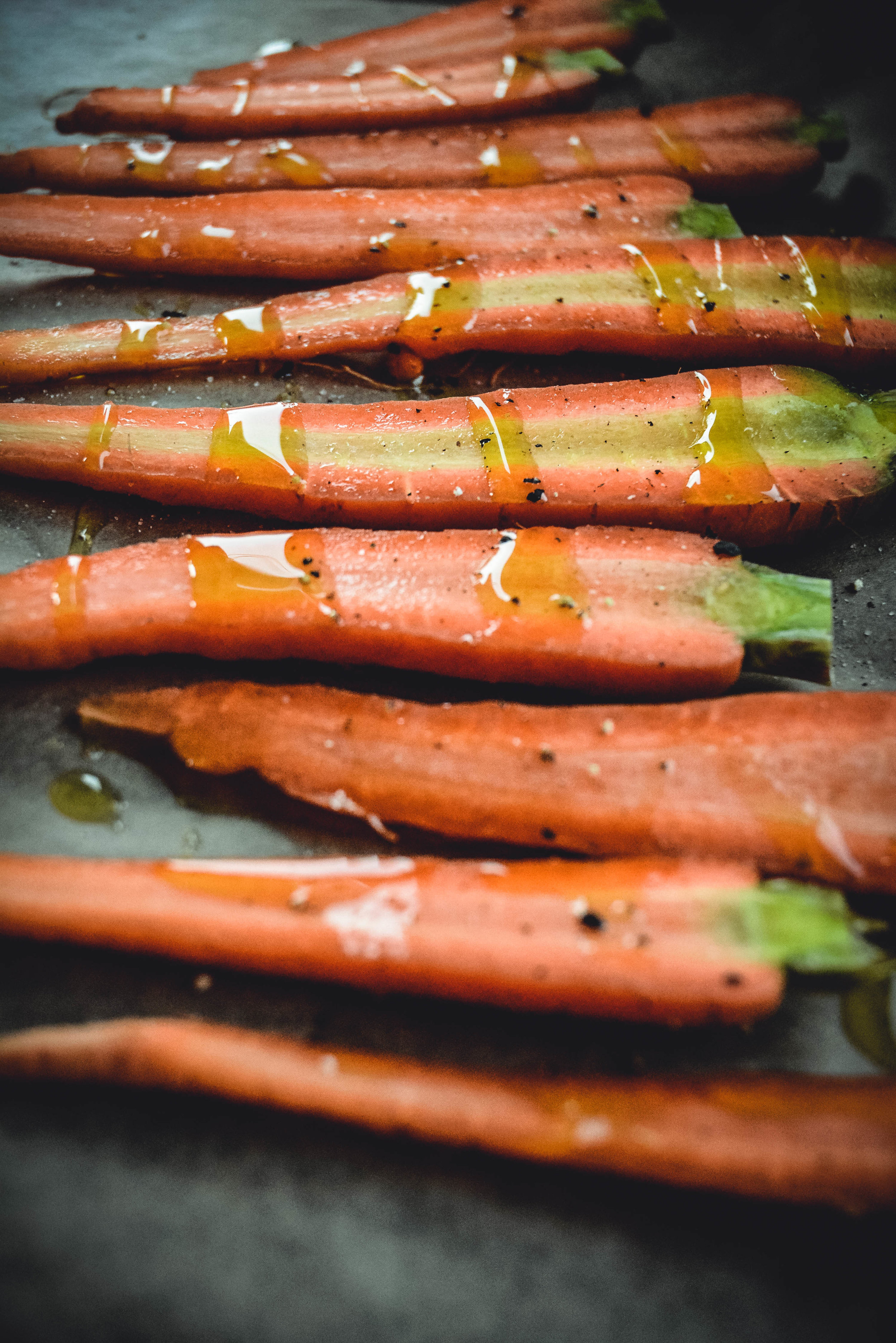 carrots on parchment paper