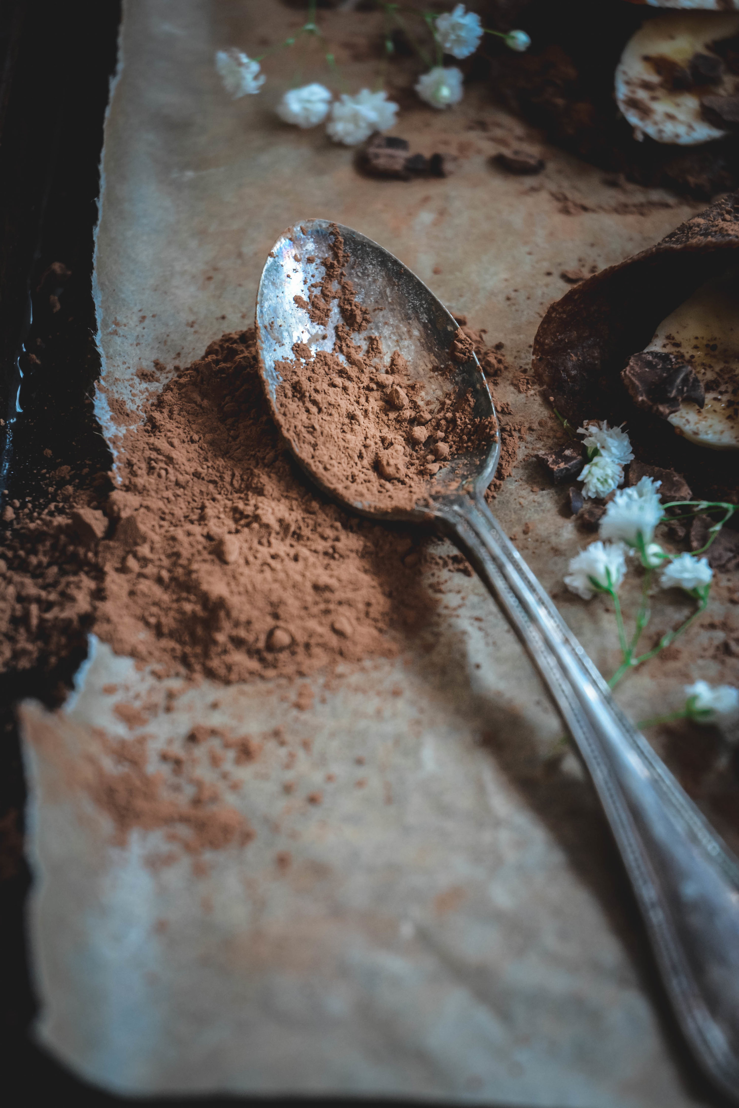 cacao on spoon