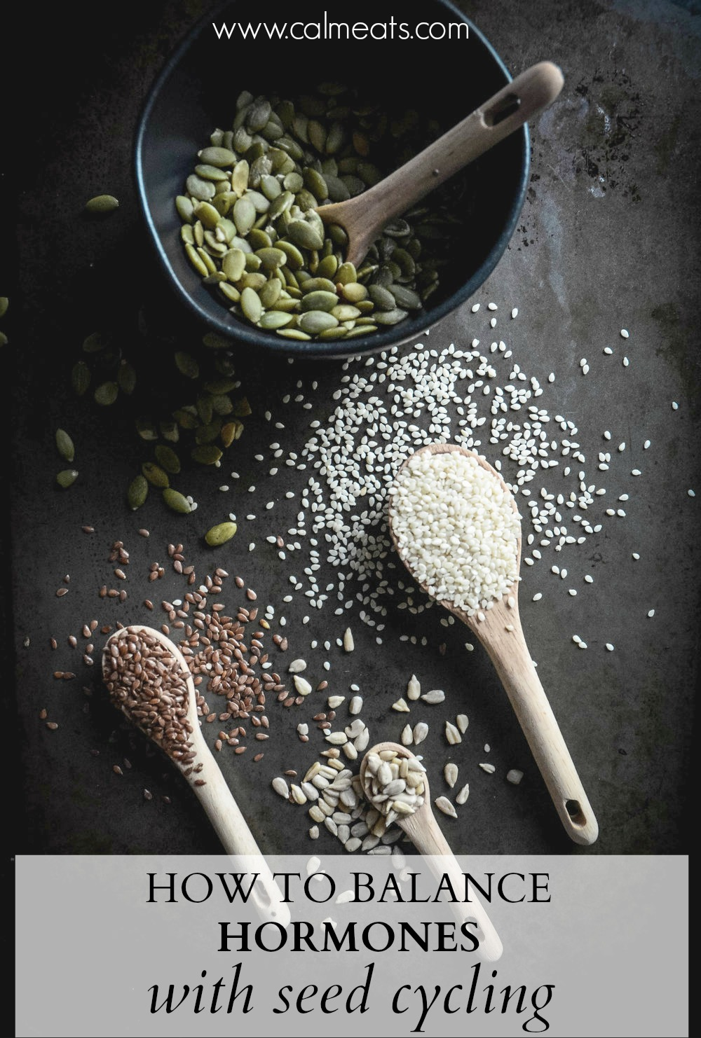 Between chronic stress, lack of proper nutrition and sedentary lifestyle, our hormones have been out of whack but there are a few things you can do to get yourself feeling like yourself again. Seed cycling is an effective, inexpensive way to do this. #seedcycling #hormonehealth #hormonebalance #glutenfree #dairyfree #hormones #estrogenbalance #progesteronebalance