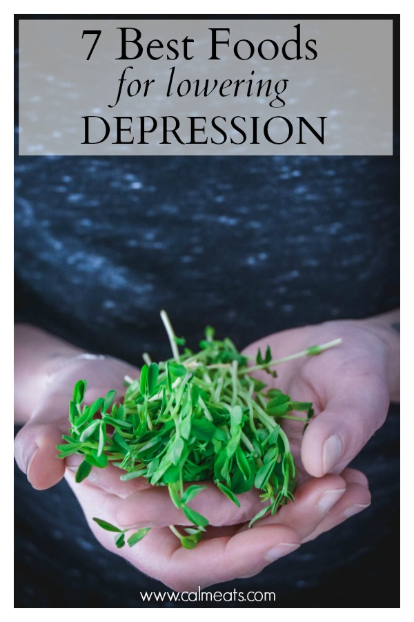 Food can either help or hurt depression symptoms. Find out what foods negatively impact depression and what you can eat to reduce symptoms of depression and increase mood. #calmeats #depression #anxiety #mentalhealth #healthymind #reducedepression #calm #healthiswealth #healtylifestyle #healthymindhealthybody #health #nutritionfordepression #foodsforloweringdepression