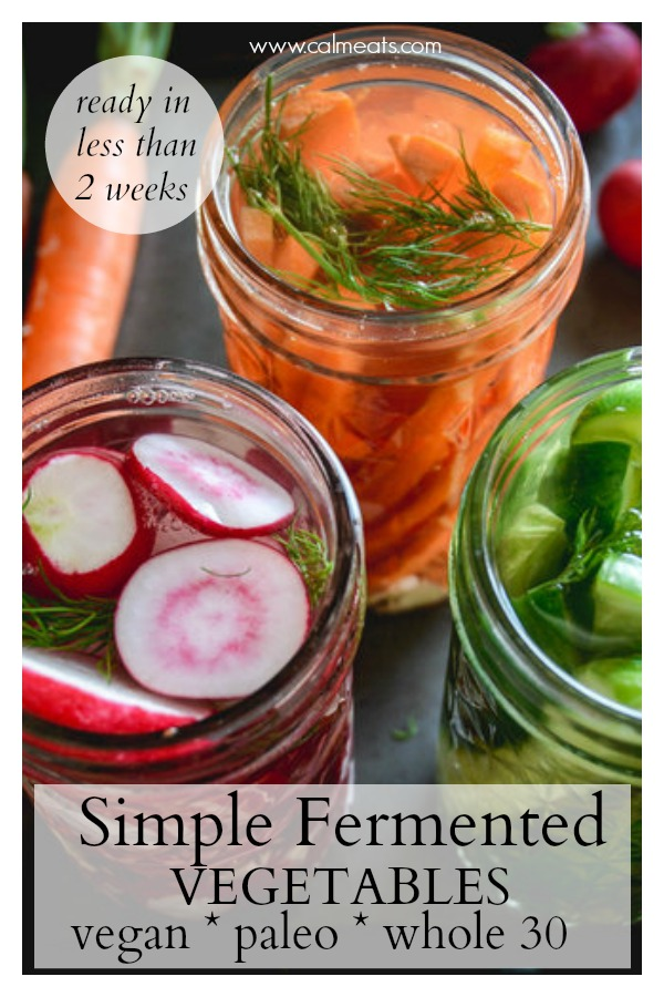 If you're on a gut healing journey, the best thing you can do is consume fermented vegetables on a regular basis. Not only are they easy to prepare but they're far better for you than bottled probiotics. Check out this simple recipe you can keep on hand to ensure your gut functions the way it's intended to. #icanpicklethat, #fermentation, #fermentedvegetables, #traditionalcooking, #ferments, #pickling, #calmeats, #vegan, #paleo, #gaps, #whole30, #vegetarian