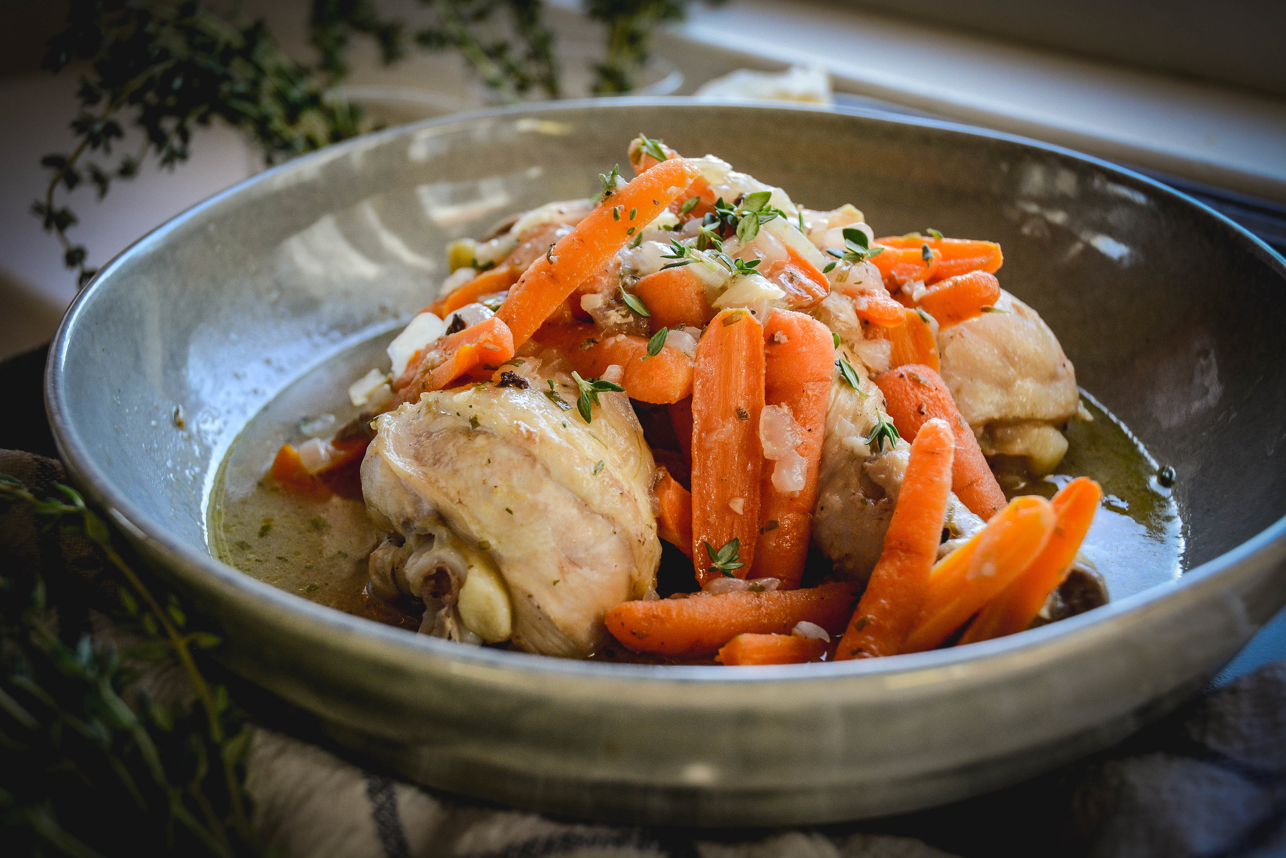 dijon chicken with tarragon and carrots