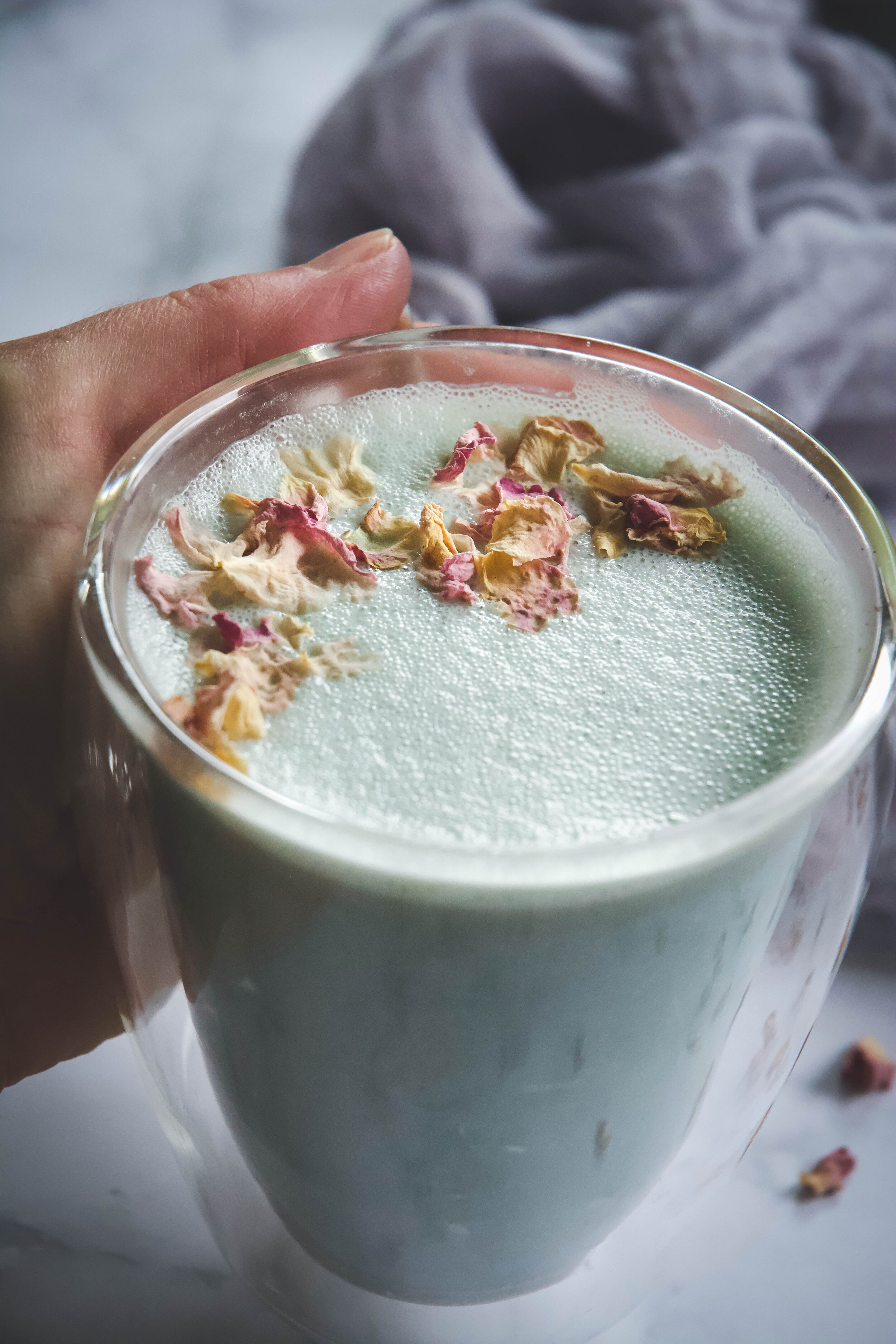 Cardamom moon milk in cup