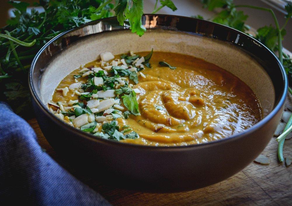 coconut cilantro sweet potato soup