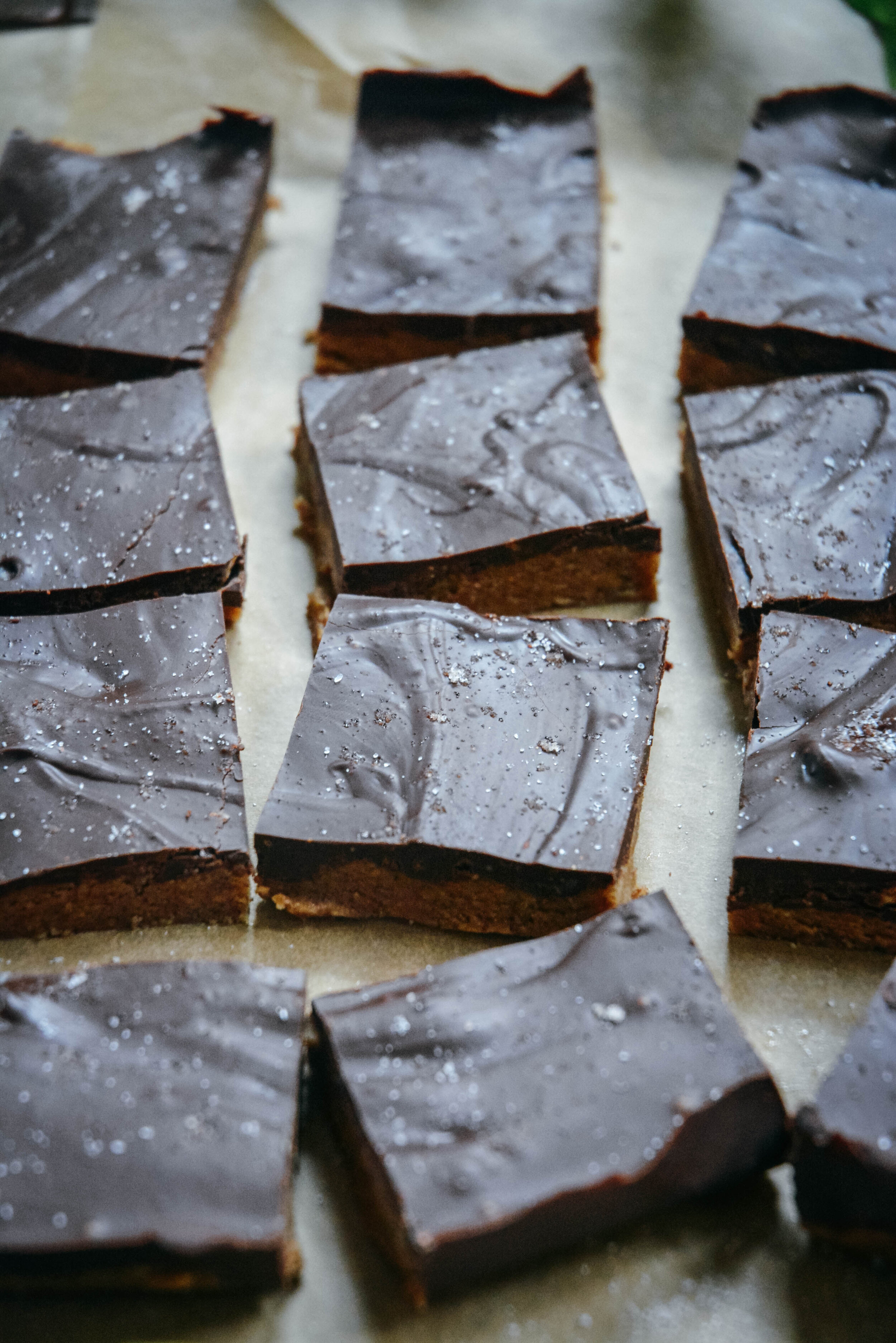 almond butter chocolate bars with sea salt