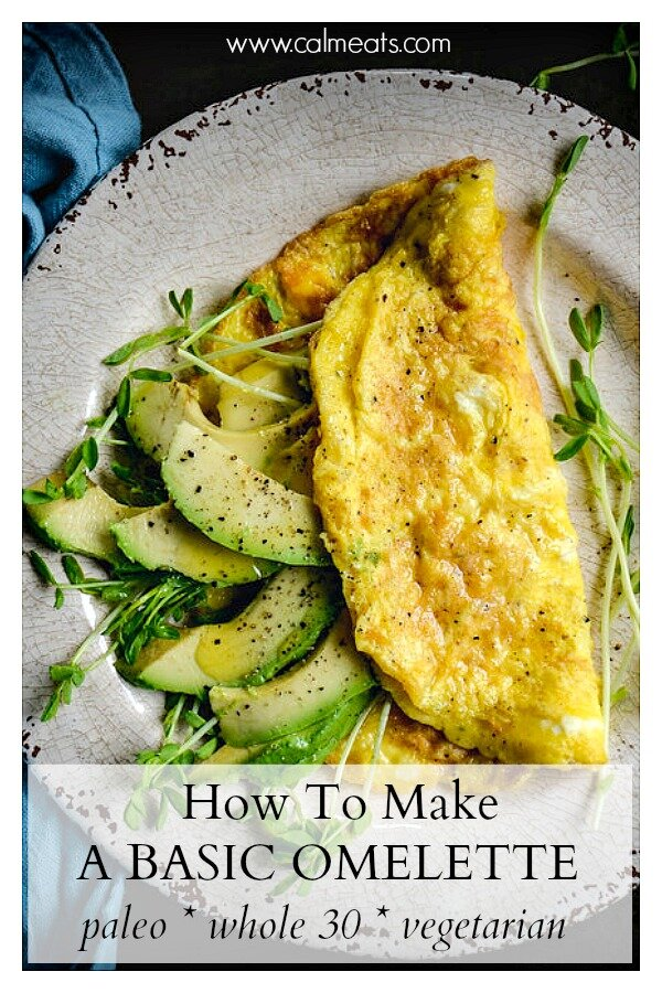 Delicious doesn't have to be complicated. Check out this quick 3 ingredient omelette you can whip up and have for breakfast, lunch or dinner. #omelette #eggs #avocado #breakfast #brunch #whole30food #whole30 #quickwhole30recipes #calmeats #paleo #paleofood #vegetarian #grainfree #glutenfree #dairyfree