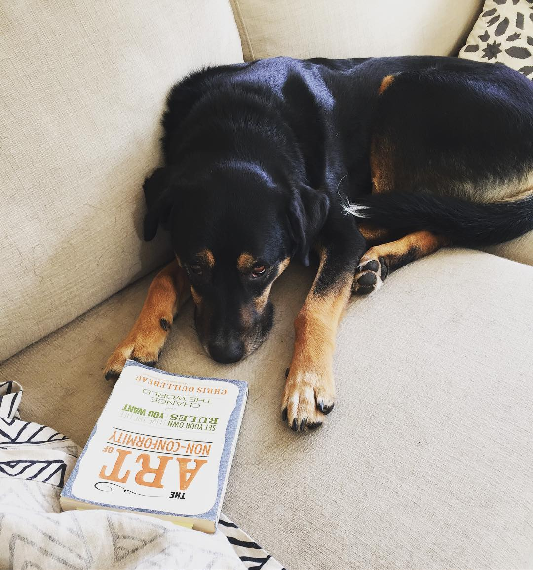Ok maybe I should be worried. He's reading self-help books.