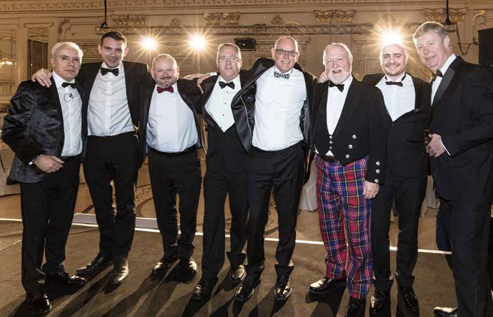 From left to right: Dale Wyatt - Suzuki director of automobile presenting the awards, Aaron Jameson - Border Cars, Phil Robinson - Hodgson, Martyn Evans - Builth Wells Garages, Stewart Cropley - Cropleys, David Pearson - Pearsons Suzuki, Matt Yeardley - Stoneacre Ackworth and after sales director Denis Houston