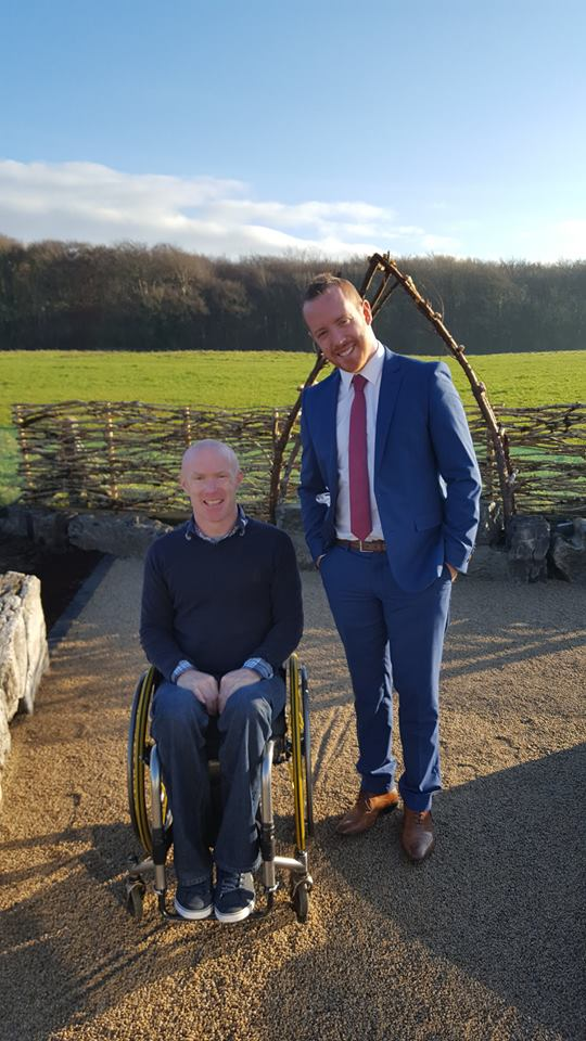 Garden Enthusiasts: Paralympian Mark Rohan and SCCUL CEO Michael Smyth.