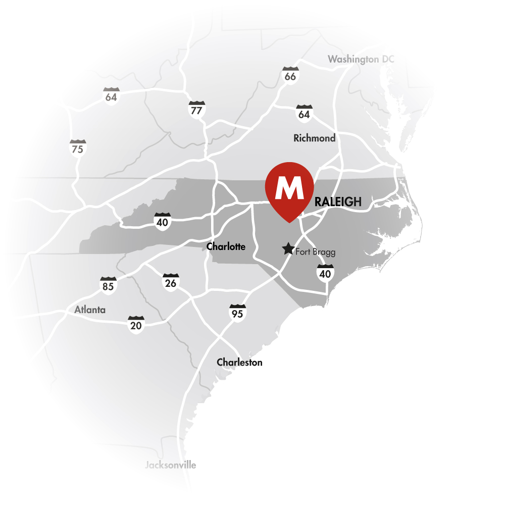 [fade]The Nation'sPREMIER MEGASITE[/fade] - [fade]Whether you need access to workers, consumer markets, or suppliers, the 2,500+ acre Moncure Megasite is the place to be. Located in the fast-growing Research Triangle Region of North Carolina, this property is within a 45-minute drive of the state capital, Raleigh-Durham International Airport, three Tier One research universities, numerous community college campuses, and the nation's largest military installation.[/fade]
