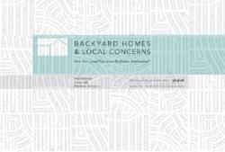 Backyard Homes & Local Concerns