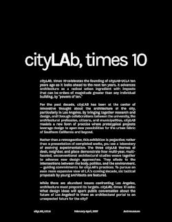 cityLAB, times 10