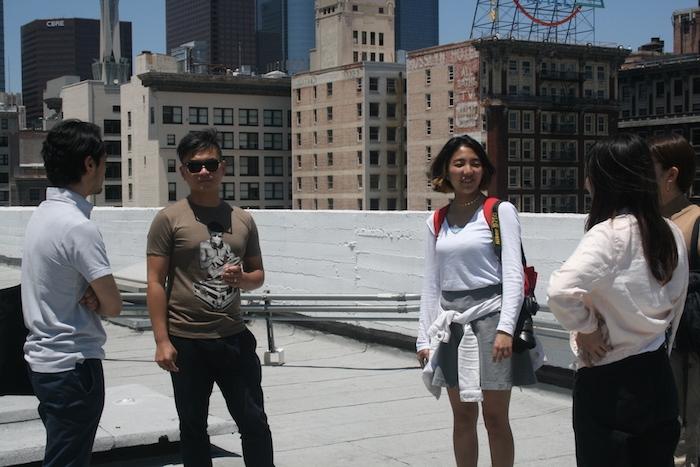 Waseda and UCLA students visit Jimenez Lai at the Bureau Spectacular office.