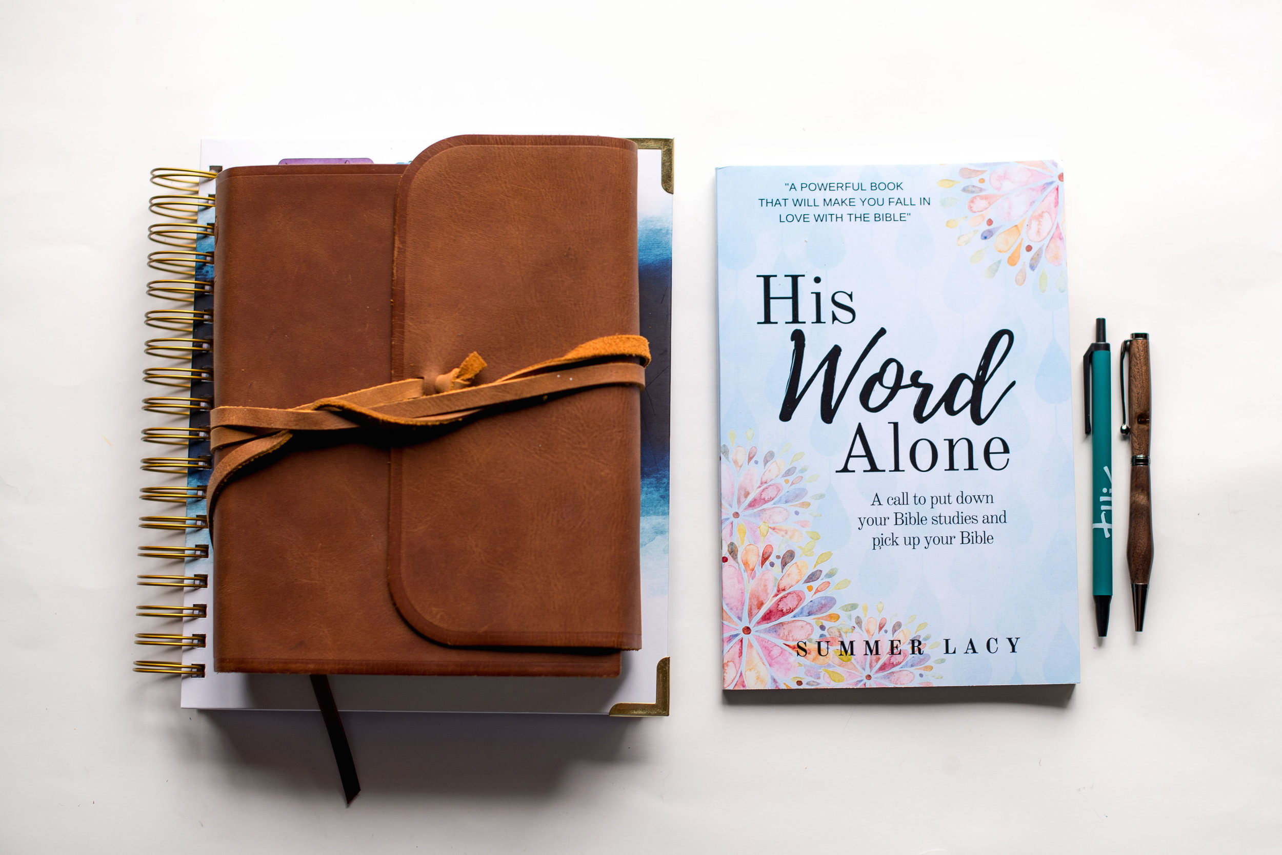 Put the Bible back into your Bible study... - The second edition of my book,His Word Alone; A call to put down your Bible studies and pick up your Bibleis now available. Order it today! HERE.