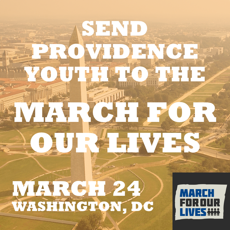 PSU poster asking for donations so students can make it to the March for Our Lives in DC.