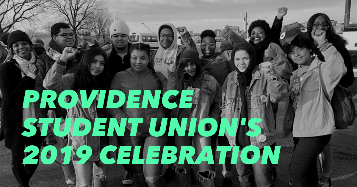 Providence Student Union youth, staff, and allies celebrate the organization.