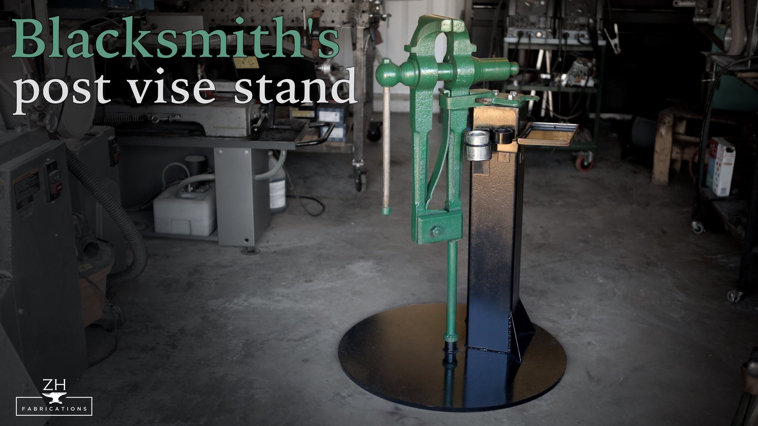 Blacksmith's post vise stand