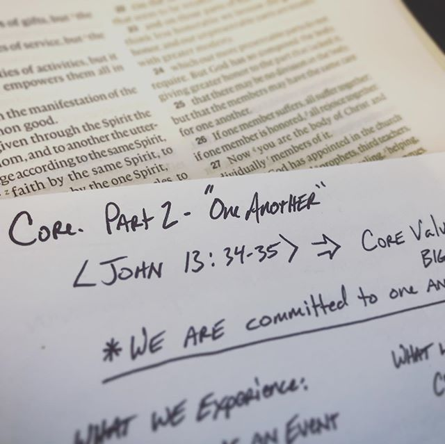 Who's excited for part 2 of Core?! If you missed part one, you can check it out here: https://vimeo.com/344334673 #corevalues #oneanother #together