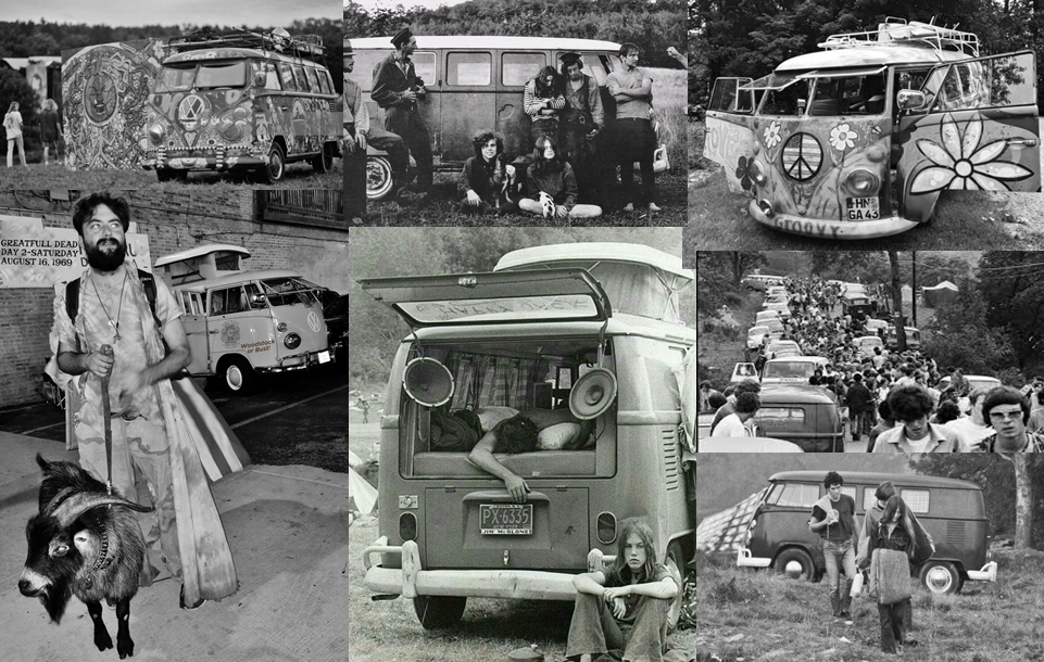 Can you spot the VW Bus that was not at Woodstock?