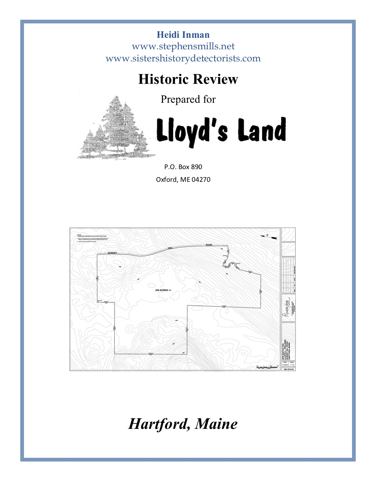 CLICK HERE TO VIEW - HARTFORD 230 ACRES HISTORIC REVIEW