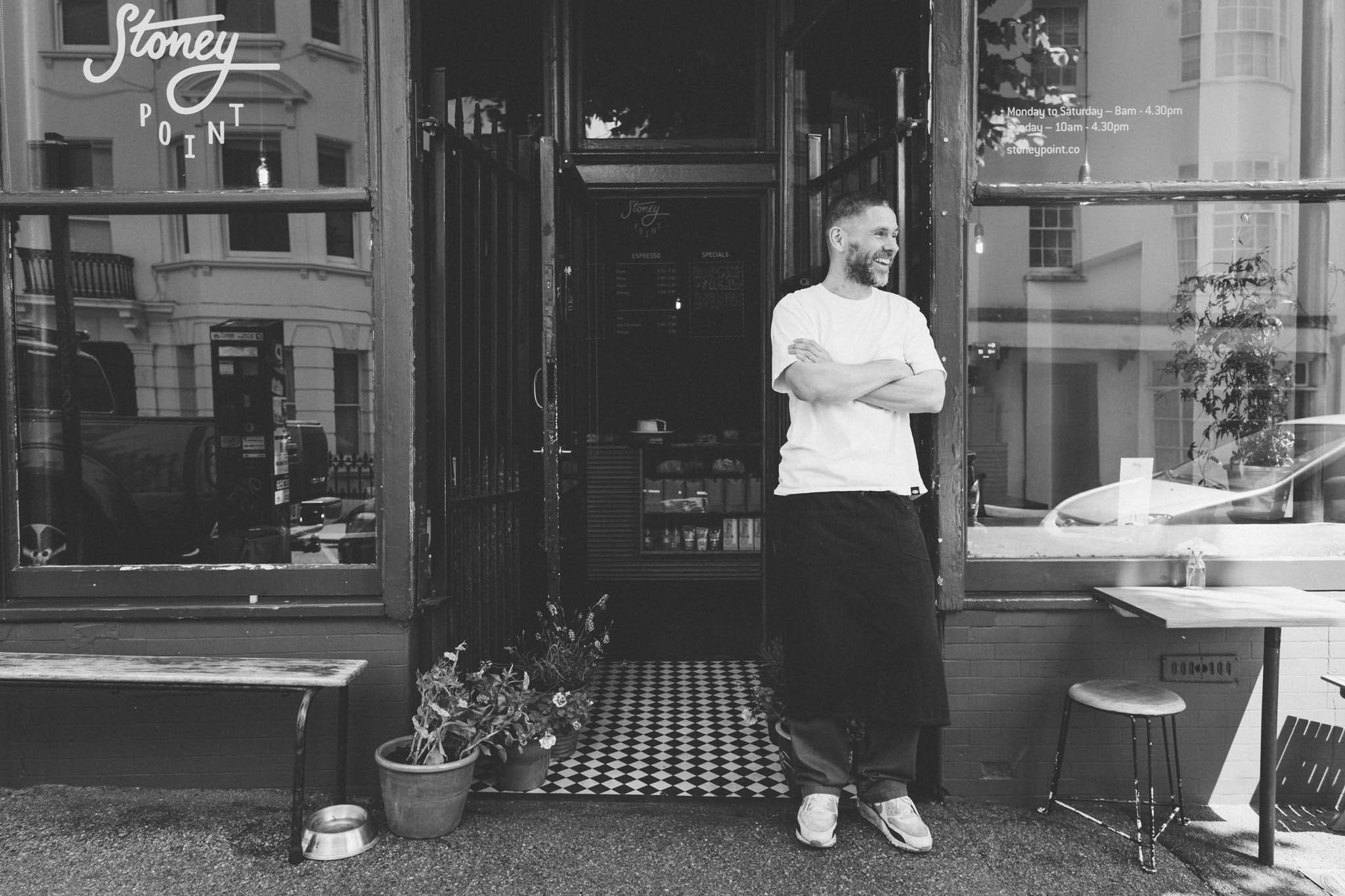 Stoney Point is a small but perfectly formed café in Hove on the border of Brighton. They serve coffee brewed to an exact temperature and play music to get lost in. Captured by Brighton food photographer Emma Gutteridge.