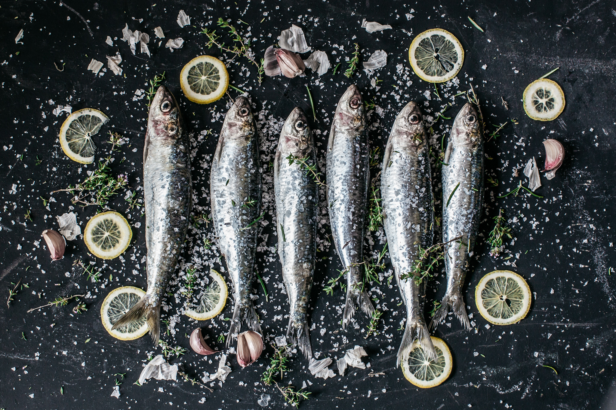 Salted sardines ready to be cooked.Food lifestyle photography for Bare Biology by Emma Gutteridge