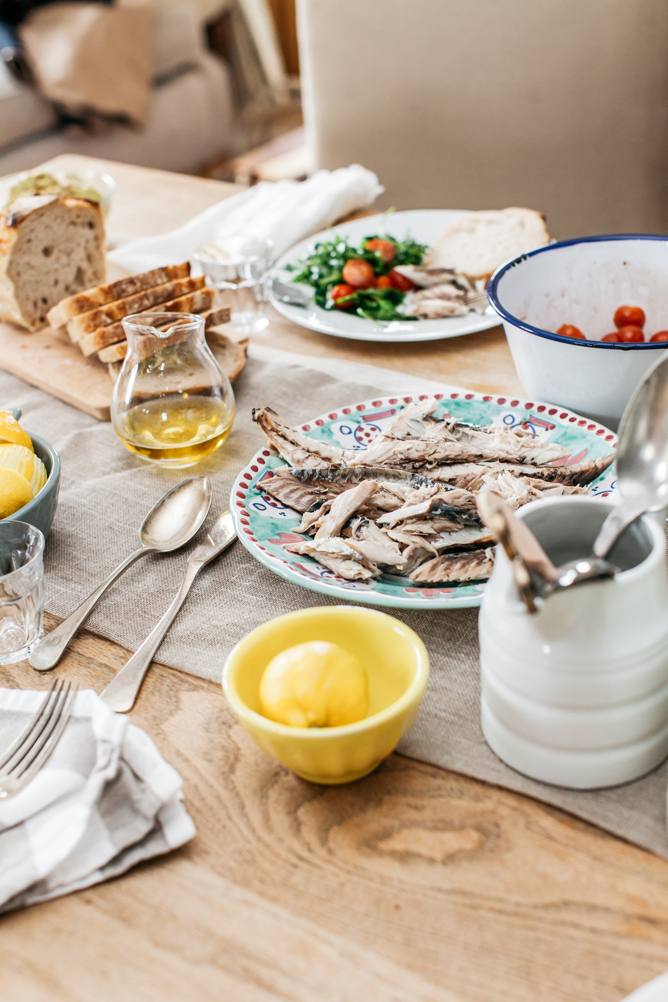 A fish based lunch.Food lifestyle photography for Bare Biology by Emma Gutteridge