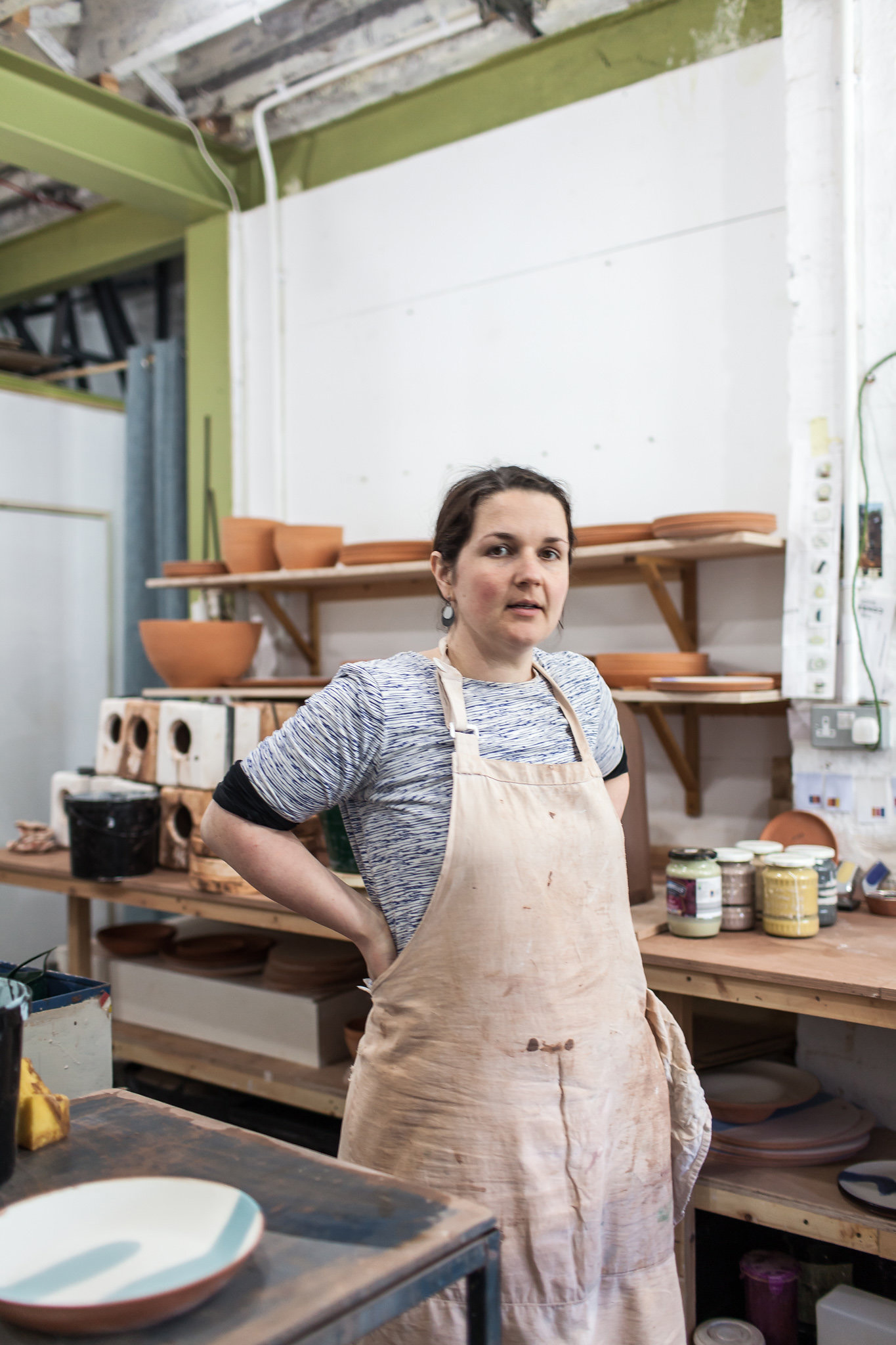 Silvia K Ceramics + Studio Portraits   Award winning ceramicist Silvia K captured at work