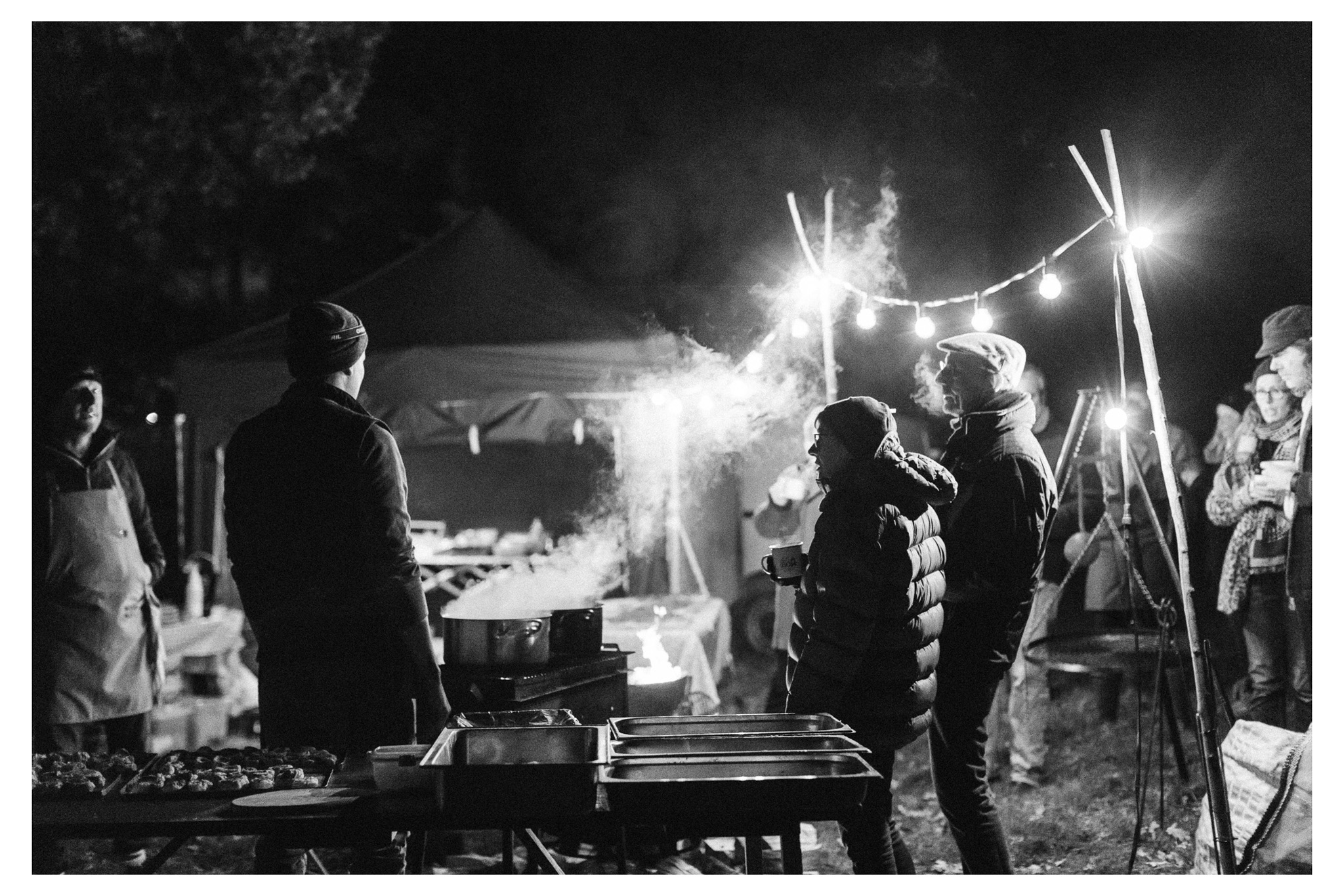 Wild Sussex and The Salt Box collaborated to bring a Wild Game Bonfire Feast to Daylands Farm. Photographed by Emma Croman.