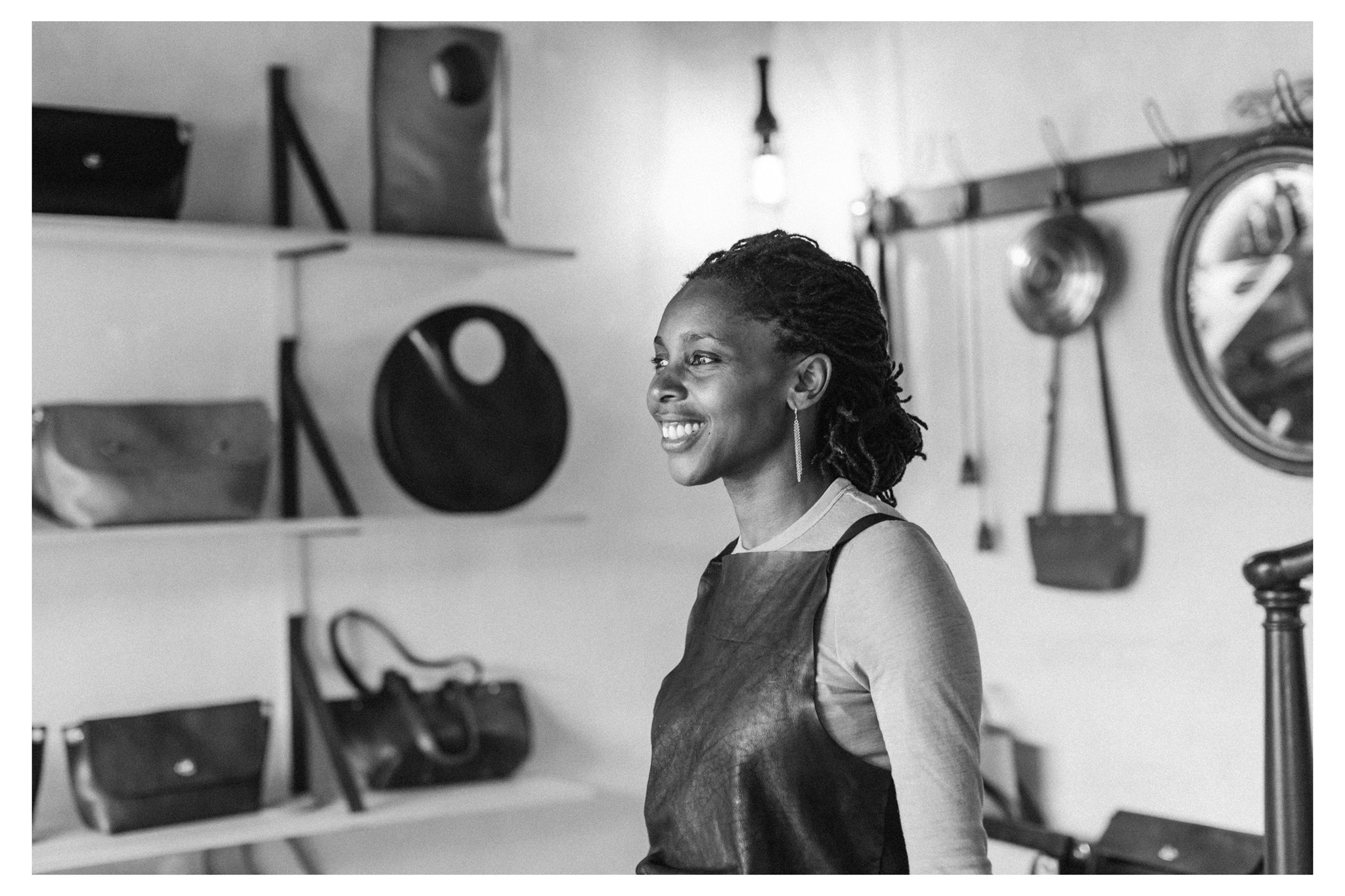 Neoma Design is a workshop and store in Brighton making and selling beautiful handmade leather bags and accessories. Photography by Emma Croman.