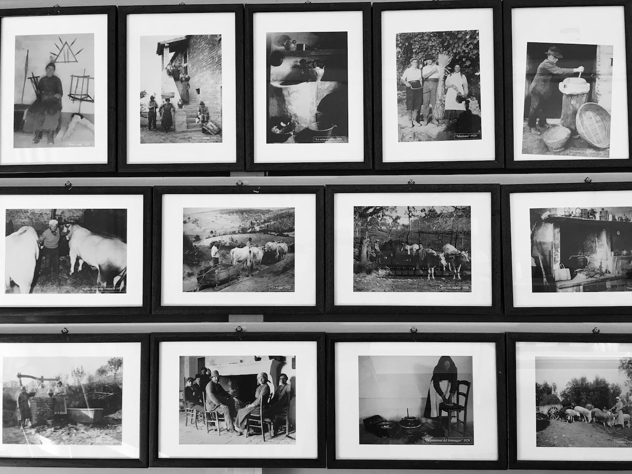 Bilder von der Familie und Bauerntum in Umbrien, Brescia.
