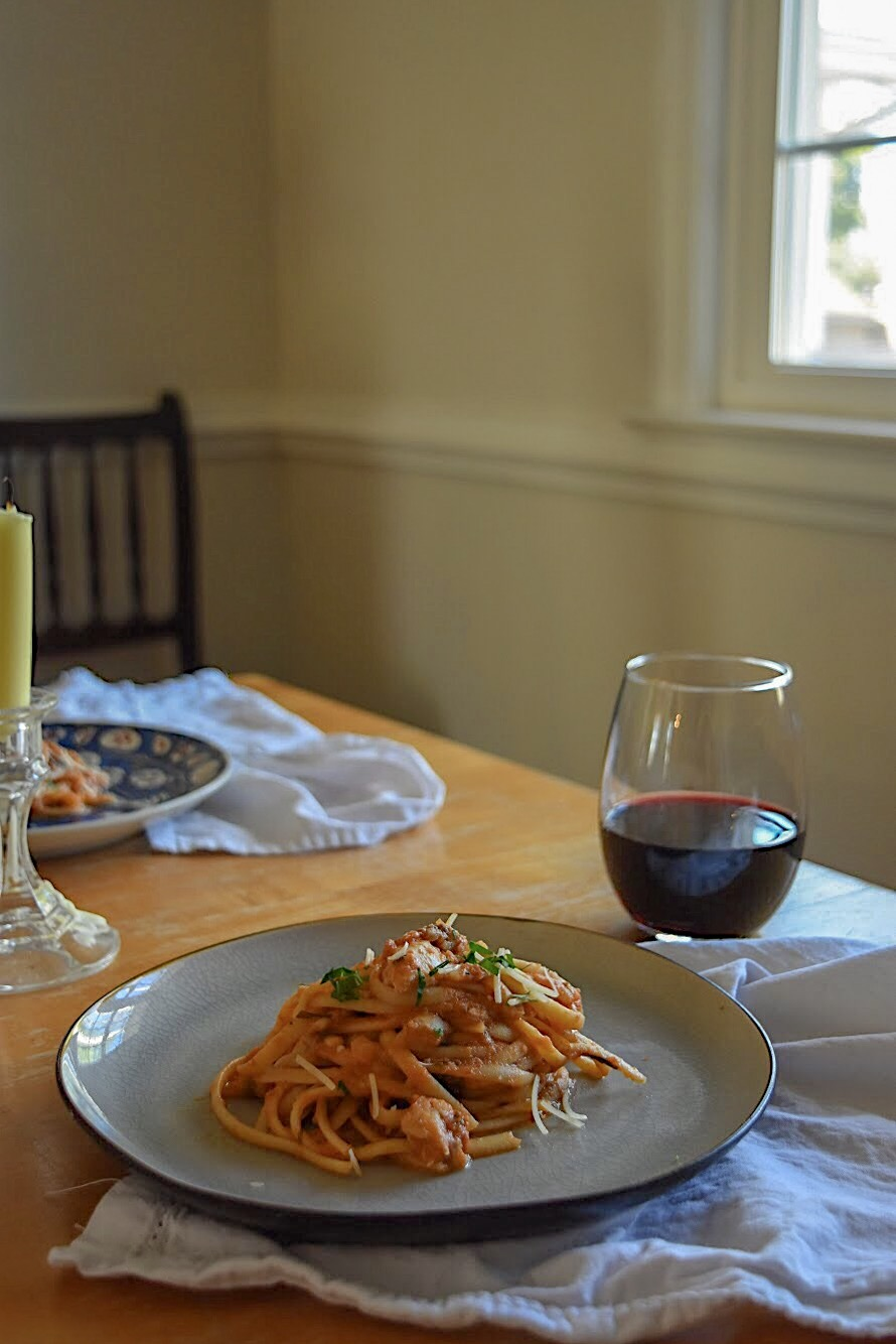 Date Night In: Linguine with Rockfish The Full Table Blog 1.jpg