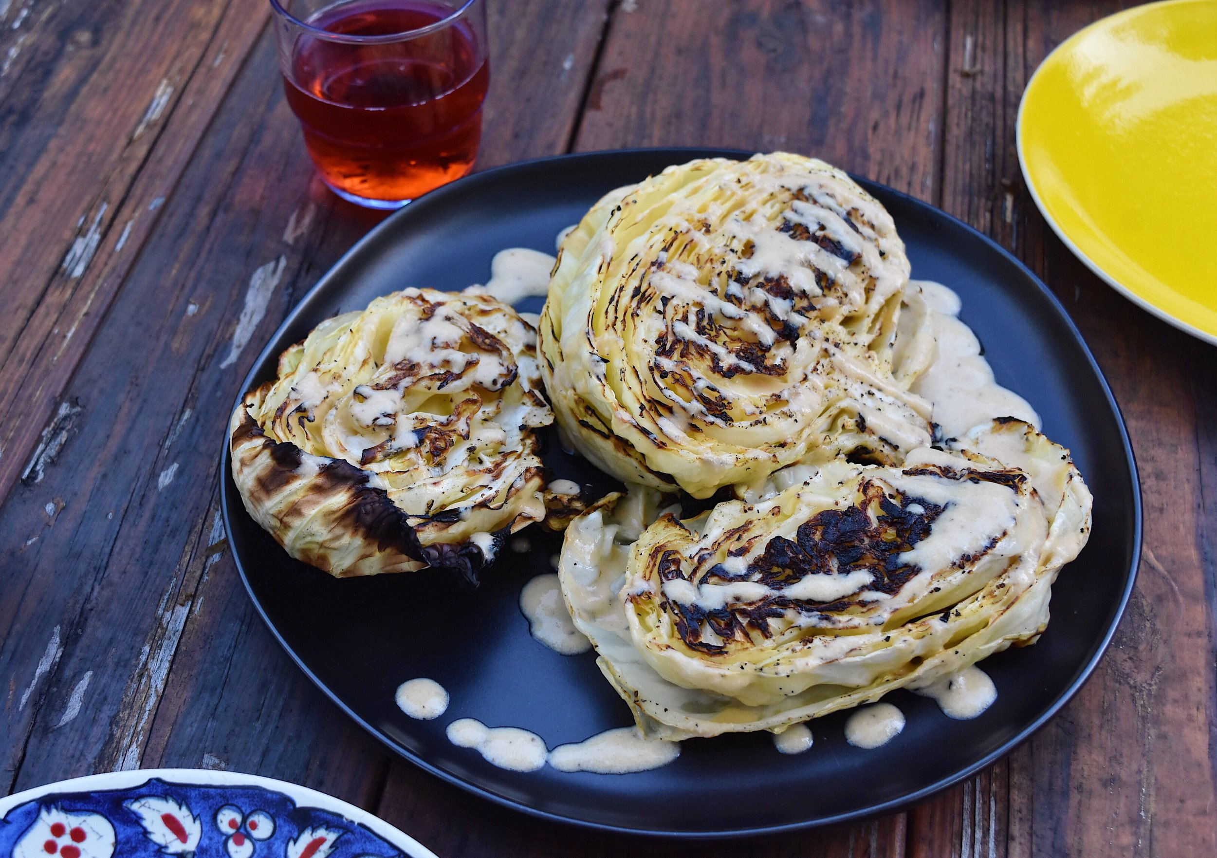 Charred Cabbage with Lemon-Chili Tahini The Full Table Blog 3.JPG