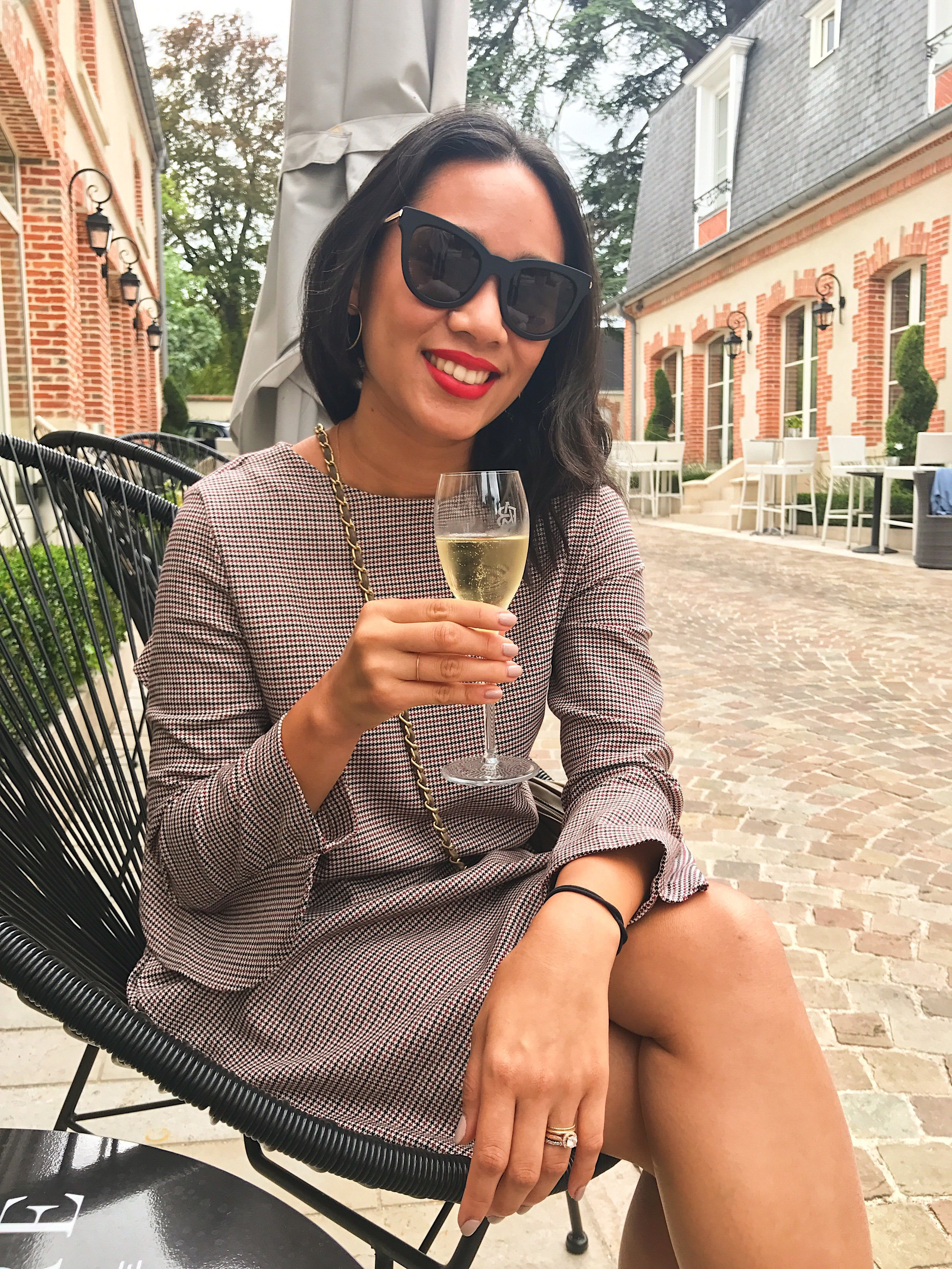 My final glass of bubbly along the Avenue de Champagne