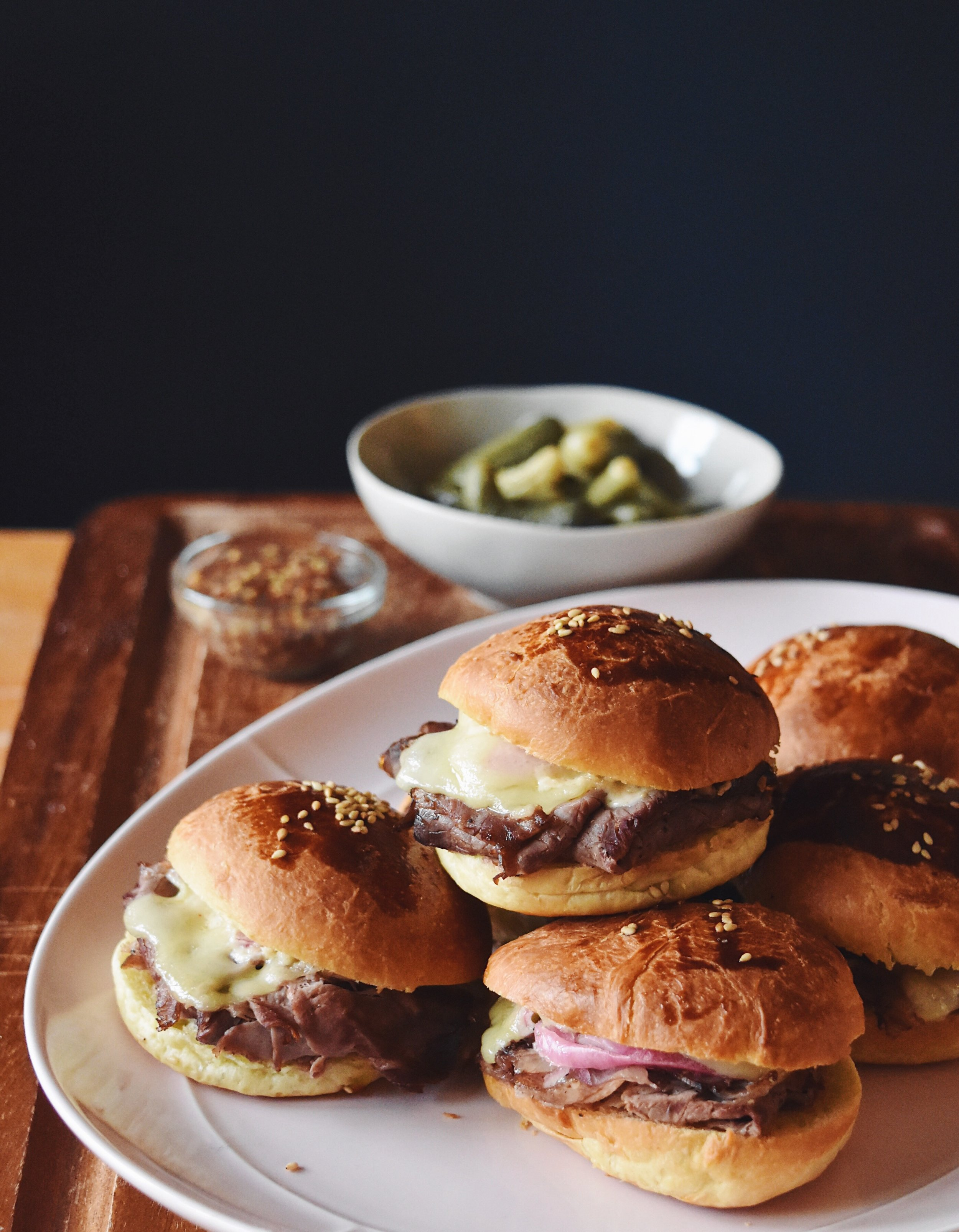 Roast Beef Brioche Sliders The Full Table Blog